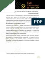 Odio y Racismo en La Institución Imaginaria de La Sociedad, Harold Valencia López
