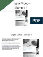 Video Creation Activities - Digital Video