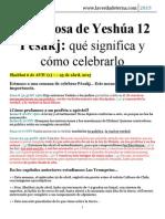 La Esposa de Yeshúa 12 - Pésakj, Qué Significa y Cómo Celebrarlo