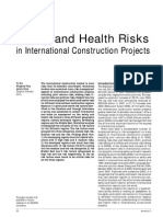 Safety and Health Risks in International Construction Projects