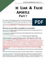 Paul the Liar and False Apostle - 7