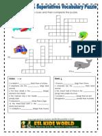 Comparatives & Superlatives Puzzle Worksheet