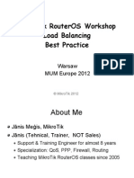 Load Balancing Workshop - Mikrotik RB