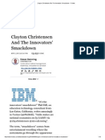 Clayton Christensen and the Innovator's Smackdown