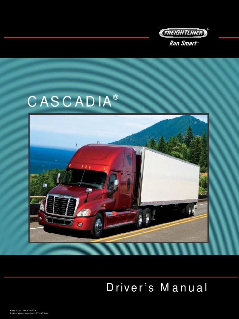 freightliner model ca113 ca125 cascadia driver s manual pdf rh scribd com 2012 freightliner m2 owners manual 2012 freightliner cascadia service manual