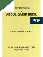 Life & Works of Abdul Qadir Bedil