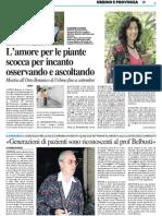 L'amore per le piante scocca per incanto - Il Resto del Carlino del 20 agosto 2015
