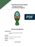nivelacion geometrica