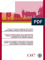 Oie (Guide to Good Farming Practices for Animal Production Food Safety)