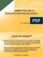 Fundamentos de La EvaluaciÓn PsicolÓgica