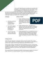 Ford Case Study Logistics
