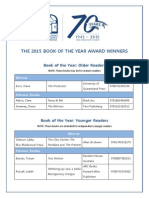 Book of the Year Awards Winners 2015