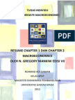 Resume Macroeconomics Mankiw Chapter 1 dan 2