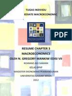 Resume Macroeconomics Chapter 3