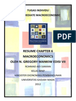 Resume Macroeconomics Chapter 6