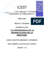 Importancia Sobre La Reumatología en Medicina