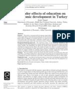 2013.GenderEffectsOfEducationOnEconomicDevelopmentInTurkey