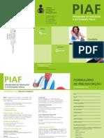 PIAF - Folheto