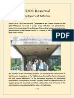 CDOS Renewal 2015 Report With Reflections