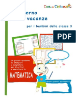 Quaderno Matematica III Elementare