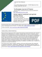 Human capital investment and optimal portfolio choice