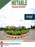 Timetable I Sem 2015-16