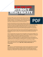 How to Live Without Electricity