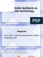 SynapseIndia Feedback on Magento Technology