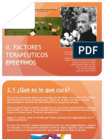 II Factores Terapeuticos Efectivos