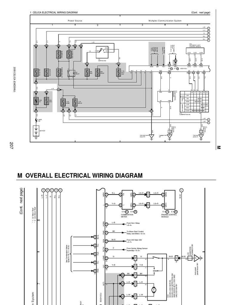 Celica Wiring Diagram Schematic 2001 Toyota Electrical Diagrams 2003