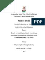Biofertilizante micorrizico y sustratos enn plantulas de cacao.pdf