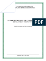 Gender Disparities in Italy From a Human Development Perspective