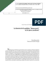 Rosanvallon 2006 - La Historia de La Palabra democracia