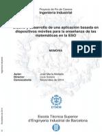 Diseño y desarrollo de una aplicación movil para la enseñananza de las matemáticas en la ESO