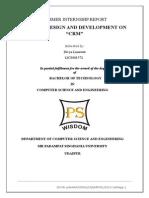 Internship Report CRM