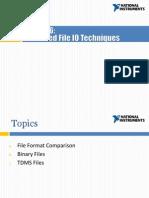 Lesson 6 - Advanced File IO Techniques