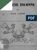 Un Poète Inconnu - Valéry, Paul