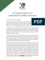 15.La Exención Fiscal en Mexico