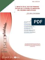 18.El Impacto en El Sector Primario Derivado de La Posible Eliminación Del RS