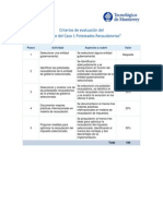 Criterios de Evaluación. Caso 1
