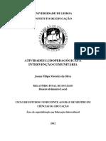 Atividades Ludicopedagógicas e Intervenção Comunitaria - VER