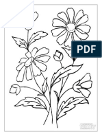 Colouring Flowers Brown-eyed-susan Page