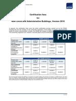 DGNB International Certification Fees