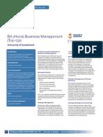 ba business management brochure