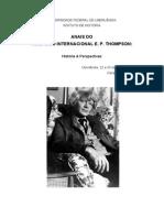 ANAIS DO I SIMPÓSIO INTERNACIONAL E. P. THOMPSON