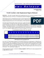 North Carolina Jobs Report for July 2015