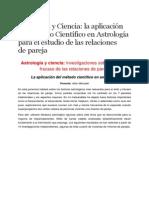 Astrología y Ciencia -La Aplicación Del Método Científico en Astrología Para El Estudio de Las Relaciones de Pareja