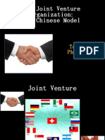 The Joint Venture Organization the Chinese Model