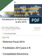 019Actualización en Reformas Fiscales Para El Año 2015