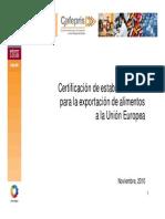 Certificación riesgos sanitarios